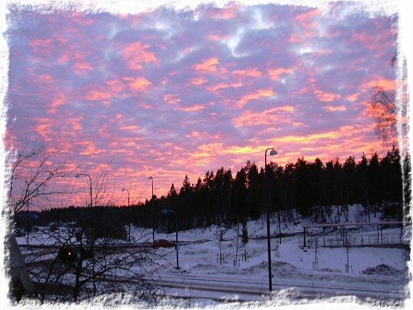 Snörik solnedgångsbild