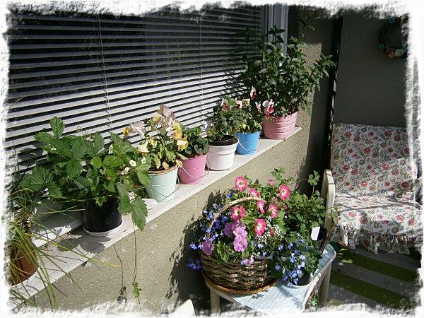 På balkongen