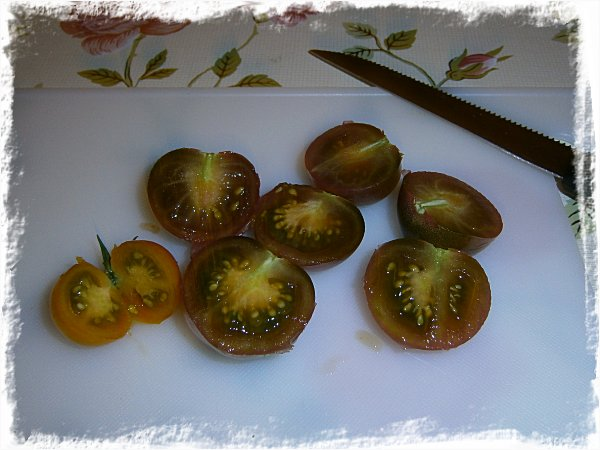 Sun Gold- och Black Cherrytomater