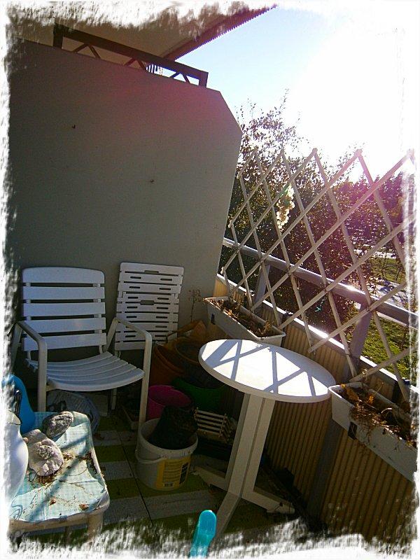 Höststädad balkong