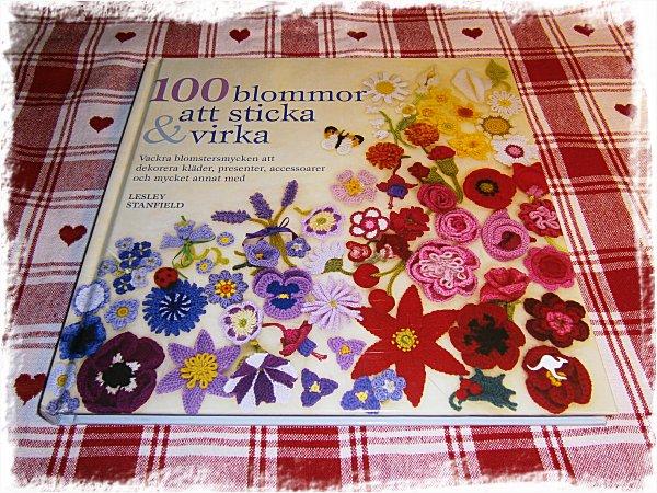 100 blommor att sticka & virka