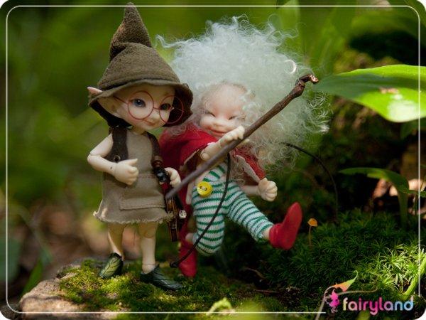 Realpukis från Fairyland, mindre än 10cm höga