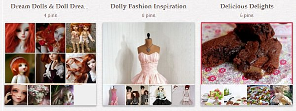 Flera av mina Pinterest-boards