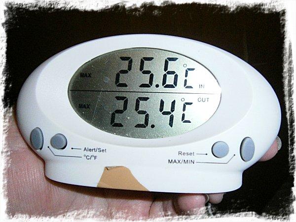 25,6 grader!!!!!!!!!!