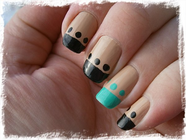 Funky french med Nordic Cap/Star Nails