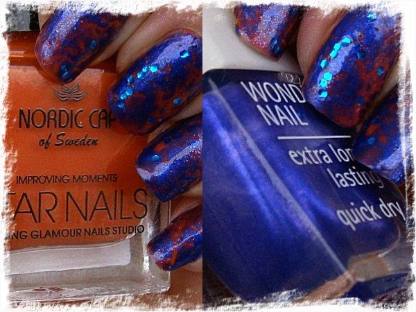 Nordic Cap/Star Nails NP07 och IsaDora Papagayo Blue - i snöstorm