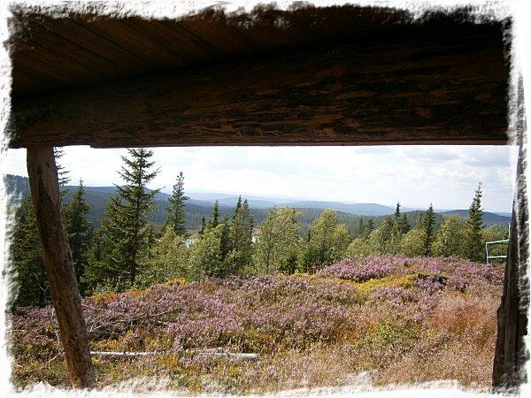 Utsikt från slogboden uppe på Snoddskallen