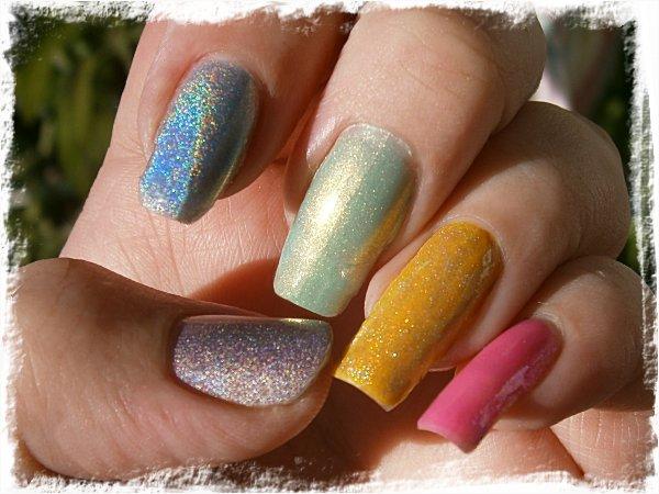 Pastellskimrande rainbow skittle